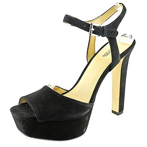 Michael Michael Kors Trish Sandal Femmes Daim Sandales Compensés Black