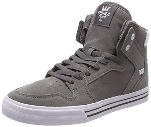 carbonella Homme Supra Gris bianco Bassi Sneakers Vaider XwRTSqfT