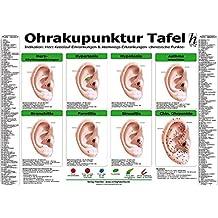 Ohrakupunktur Tafel - Indikation: Herz-Kreislauf-Erkrankungen & Atemwegs-Erkrankungen