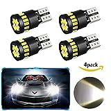 4er Pack T10 W5W LED Auto Licht Lampe,WILWOLF Led Innenbeleuchtung Auto,21 x 4014 LED, 12V 2.5W Canbus Fehlerfrei Innenlampen,Standlicht Kennzeichenbeleuchtung,Leselampe, Ersatz KFZ Beleuchtung Birne (Weiß)