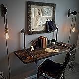 Faltbarer Wandtisch ZCJB Retro-Industrie-Design Massivholz Wand-Computer Schreibtisch Wand Schreibtisch Wandbehang Einfache Wand Tisch Schlafzimmer (Farbe : Style 1, größe : 120 * 50 * 3cm)