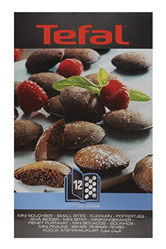 51kZhraFkoL - Tefal XA801212 Snack Collection Mini Bites Maker Non Stick Plates Set (Accessory)