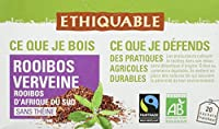 Ethiquable Rooibos Verveine Afrique du Sud Bio et Équitable 20 Sachets Max Havelaar - Lot de 4
