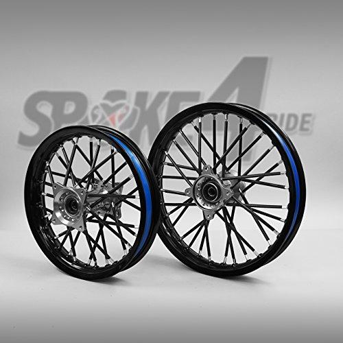 Cubre radios Negro Rayos Spoke Skins Motocross llanta enduro rueda moto