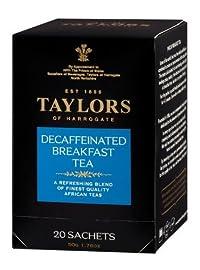 Taylors of Harrogate, Black Tea, Decaffeinated Breakfast Tea, 20-Count Wrapped Tea Bags (Pack of 6)