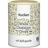 Xucker 200g Weiße Schokoladen-Drops ohne Zuckerzusatz, 35% Kakao-Gehalt, Xylit aus Finnland, Chocolate Drops, 10135