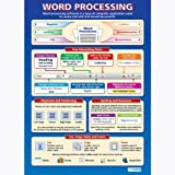 Textverarbeitung |ict Educational Wand Diagramm/Poster in Laminiertes Papier (A1850mm x 594mm)
