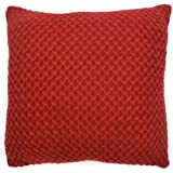 Knitted Lattice Cushion Cover Red 45cm x 45cm