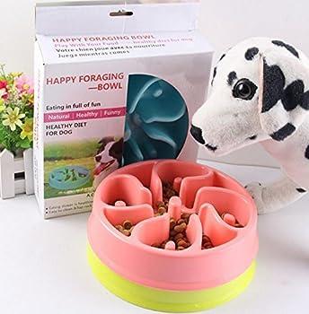 LA VIE Gamelle anti-glouton Bol Écuelle à chat pour Eviter Manger Vite Bol D'alimentation Pour Chien Chat Chiot etc.