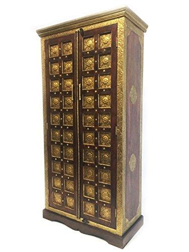 Orientalischer Grosser Schrank Kleiderschrank Yafiah 180cm hoch | Marokkanischer Vintage D