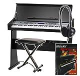 Funkey DP-61 II Digitalpiano mit Ständer, Kopfhörer, Sitz Bank, Noten und CD (61 Keyboard Tasten, 128 verschiedene Sounds, 128 Rhythmen, 12 Demo Songs, Begleitautomatik, Record Funktion)