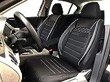 Sitzbezüge K-Maniac für Seat Leon III | Universal schwarz-Weiss | Autositzbezüge Set Vordersitze | Autozubehör Innenraum | Auto Zubehör Kunstleder | V2211377 | Kfz Tuning | Sitzbezug | Sitzschoner