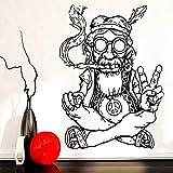 jiushizq Nouvelle Arrivée Vinyle Stickers Muraux Home Decor Salon Hippie dans des...