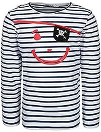 Jungen Piraten Capt/'n Bär Langarmshirt Blue gestreift SALT AND PEPPER BABY