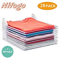Nifogo Closet Organizer - UM Shirt Folder, Office Desk File Cabinet Organization, Regular Size (20-Pack)