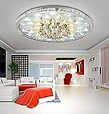 Moderne LED-Deckenleuchte Runde Wohnzimmer led Kristall Deckenleuchte, Minimalistische Atmosphäre Europäische Lobby Restaurant Kristall Lampe, Durchmesser 43cm hoch 17cm* [Energieklasse A++]
