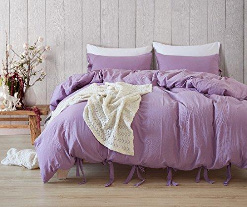Bettwäsche 2-3 teilige Dr.Sosmonki Bettwäsche 229*229 cm mit 2 Kissenbezügen 51*66 Mikrofaser Violett Rot Rosa einfarbig Bettwäscheset Bettbezug Reißverschluss