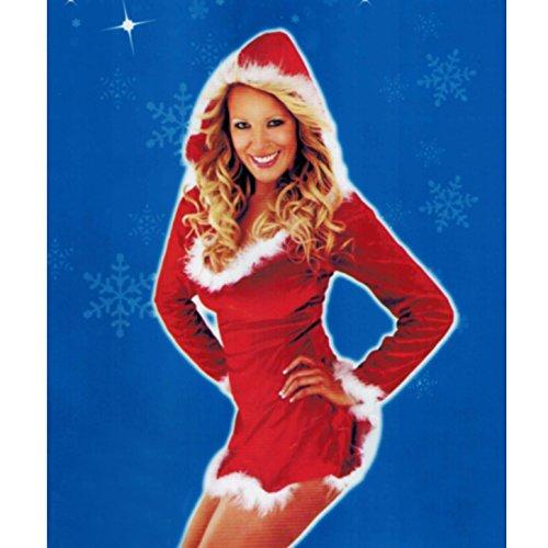 (146) Sexy Weihnachtsmann Kostüm Nikolaus Santa Weihnachtsfrau Weihnachten (Miss Outfits Claus)