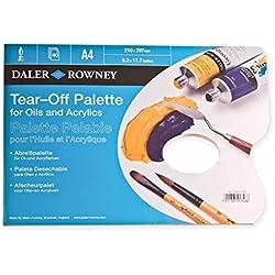 Daler Rowney: Block de Paletas de papel para oleos y acrílicos (Tear off) A4, 40 Hojas.