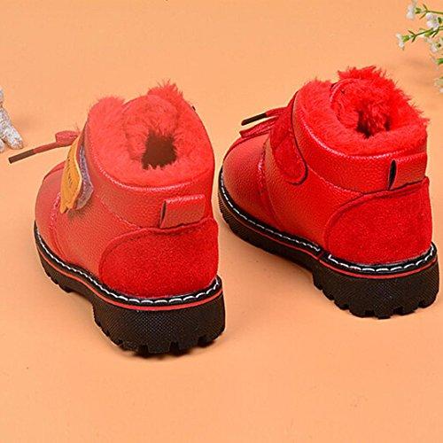 Sapatilha De Inverno Da De Do Vermelho Botas Bebê Neve Couro Sapatos De Bzline® Criança Berço YzqAnpP