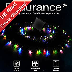 PowerBee Endurance ® Solar Colour Changing Fairy lights High Quality Superbright LED's Multi Function Indoor / Outdoor Garden, Party, Tree Lights for ALL YEAR round use including winter