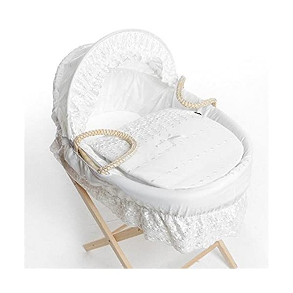 Isabella Alicia Designer Spare Replacement Moses Basket Dressing, Covers, Bedding Sold By H & H Traders (White Broderie Anglaise)  Moses Basket dressing is a perfect starter bed for your baby Suitable from newborn to six months This is Replacement covers for exsisting basket 1