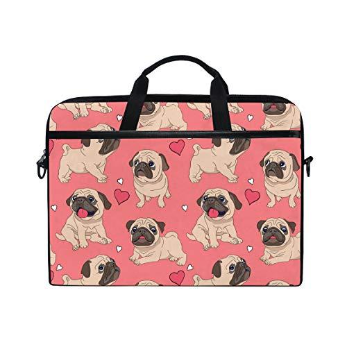 bbffc5ed894a TropicalLife Laptop Bag Cute Pug Dog Lightweight Briefcase Shoulder  Messenger Bag Laptop Case Sleeve for 11.6-15 inch MacBook Pro, MacBook Air  Laptop ...