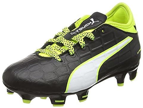 Puma Unisex-Kinder Evotouch 3 FG Jr Fußballschuhe, Schwarz (Black-White-Safety Yellow 01), 36 EU (Fussballschuhe Jungen)