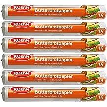 Rubin Butterbrotpapier 16 m, 6er pack(6x16 m)