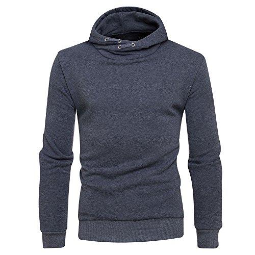 YanHoo Suéter de los Hombres Suéter de Cuello Alto de los Hombres...