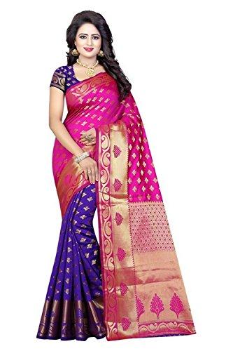 Macube New Designer Collection Banarasi patola saree with Purple color Blouse Piece...