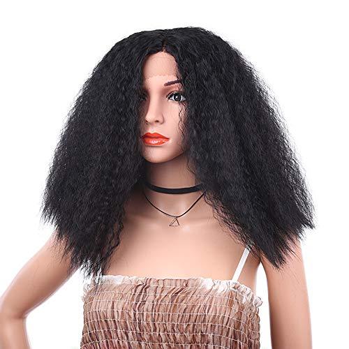 IKVRU Fluffy Wigs, Cute Womens/Girls Dark Black Long Bangs Fluffy Healthy Curly Full Wig 16