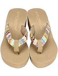 QinMM Sandalias y Chancletas de Plataforma Para Mujer, Playa Zapatos de Verano Flip Flops