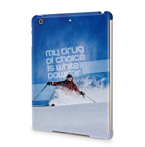 skiing-my-drug-of-choice-quote-apple-ipad-mini-4-snapon-hard-plastic-tablet-protective-case-cover
