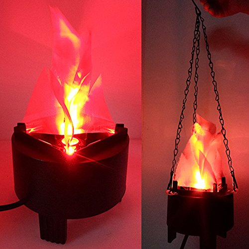 Simulation Fire lumière LED flamme Faux artificielle 3d Flamme Feu de camp Décoration pour Halloween, Noël, festival, clubs, fête et décoration de scène avec dragonne 39,6cm/40cm