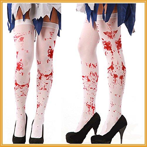 Kostüme Tag Internationaler (Blutige Strümpfe Halloween Masquerade Cos Spiel Uniform Versuchung Party Dekoration)