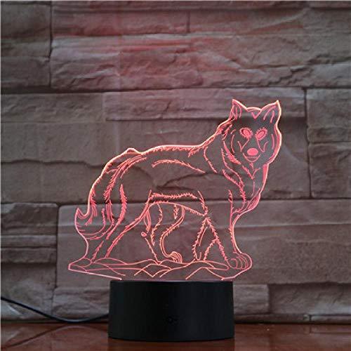 CYJQT Lobo Animal Luz Usb Luz Nocturna Ledrgb Iluminación