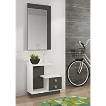 LIQUIDATODO ® - Mueble de recibidor Moderno Color Blanco/Grafito - Star