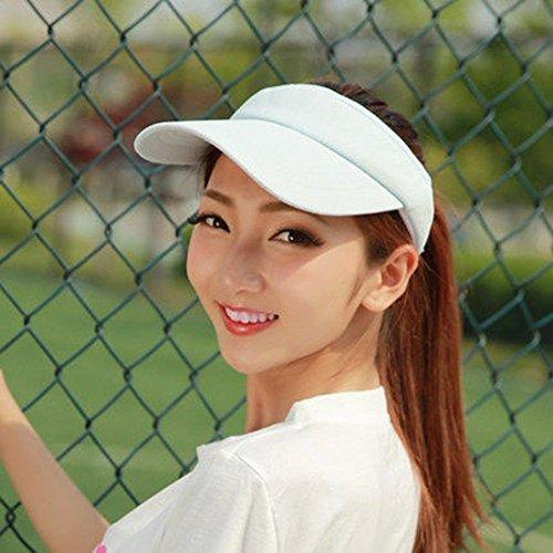Chapeau de soleil d'été Été féminin Empty top chapeau de soleil de plein air mouvement Crème solaire Chapeau de tennis Casquette de baseball Pour les voyages de plage sortants ( Couleur : 6 ) 4
