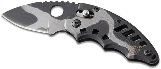 Belk Disguiser Series 2.8-In Mini Figure Rock & Mud Camo Knife With Ball Bearing Lock 4 Fing