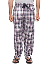 Twist Men's White And Navy Blue Checked 100% Cotton Pyjama Sleepwear Night Wear With Contrast & Free Shipping