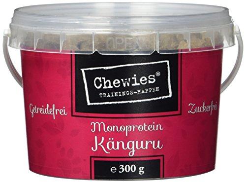 Chewies Trainingshappen Ente - Monoprotein Snack für Hunde - 300 g - getreidefrei und zuckerfrei -  Softe Leckerlies fürs Hundetraining - hypoallergen