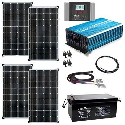 Solaranlage Autark XXL 520Wp Solar - 2000Wp AC Leistung 12V 230V - Inselanlage - Solarset