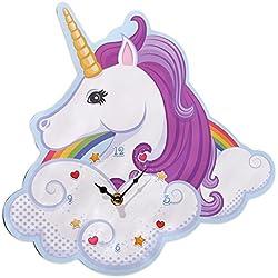 Close Up Reloj de Pared Unicornio - Magic Rainbow