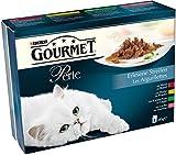 Gourmet Perle Katzenfutter Rind, Kaninchen, Lachs, Huhn, 680 g