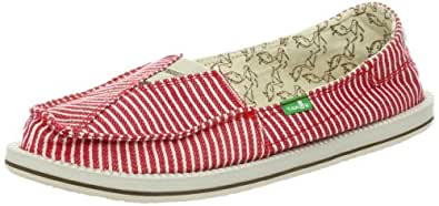 Sanuk Womens Castaway Sandals Red Rot (RED STRIPE) Size: 37