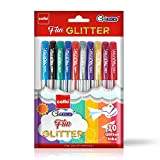 #5: Cello Geltech Fun Glitter Gel Pen - Pack of 10 (Multicolor)