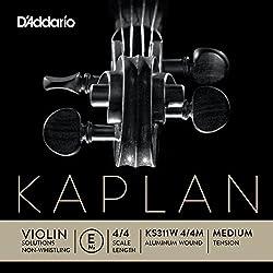 D'Addario Orchestral Zyex - Cuerda individual Mi para violín, escala 4/4, tensión dura