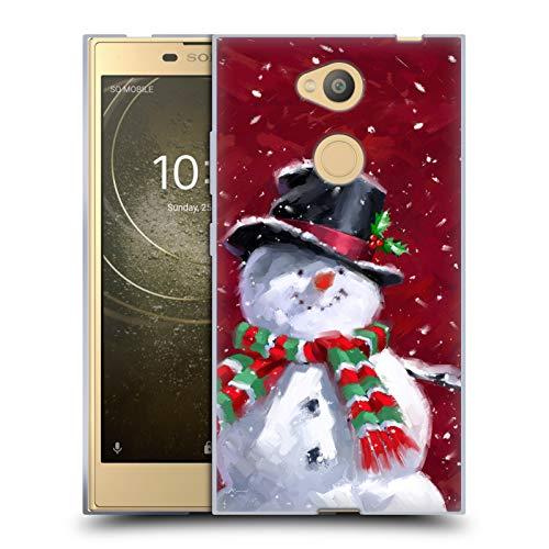 fizielle The Macneil Studio Gesicht Eines Schneemann Winter Wonderland Soft Gel Hülle für Sony Xperia L2 ()