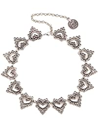 Young & Forever Silver Plated Designer Statement Necklace For Women And Girl N423